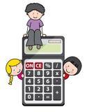 Children with a calculator Stock Photos