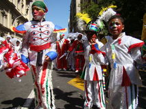 Children at Cape Town Minstrel Carnival Royalty Free Stock Images