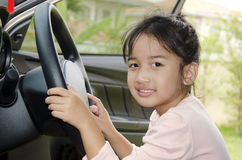 Children in the car Royalty Free Stock Photography