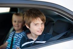 Children in car stock images