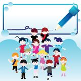 Children card Royalty Free Stock Images