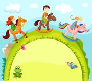 Children card Royalty Free Stock Photography