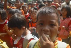 CHILDREN CARE INDONESIA Royalty Free Stock Photo