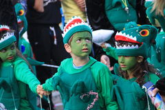 Children. Carnival in Cyprus. Royalty Free Stock Photos