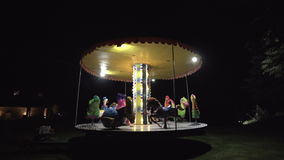 Children Carousel in the Park Royalty Free Stock Images