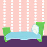 Children cartoon bed in vector Stock Images