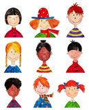 Children. Cartoon characters. Stock Photography