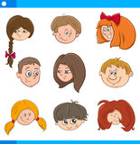 Children cartoon characters set Royalty Free Stock Images