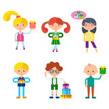 Children Cartoon Characters Vector Set Royalty Free Stock Photography