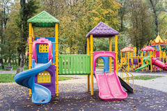 Children Castle on Playground Stock Image