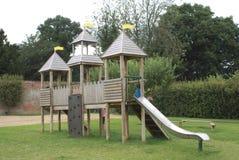 Children castle slide Stock Images