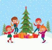 Children celebrate Christmas Stock Photos