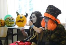 Children celebrate Halloween in Sofia, Bulgaria on Oct. 30, 2014 Royalty Free Stock Photo