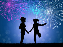 Children celebrate the New Year Stock Photo