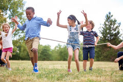 Free Children Celebrating At The Finish Line Royalty Free Stock Images - 87806649