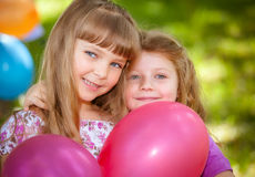 Children celebrating birthday Royalty Free Stock Photography