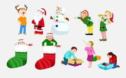 Children Celebrating Christmas royalty free illustration