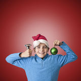 Children celebrating christmas Stock Image