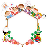 Children celebrating the New Year Royalty Free Stock Images