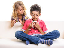 Children cell phone Royalty Free Stock Image