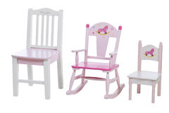 Children Chairs Isolated Over White, With Path Royalty Free Stock Photo