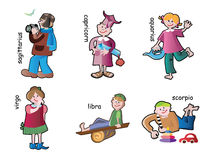 Children characters Stock Image