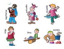 Children characters stock image