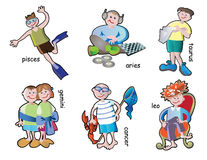 Children characters Royalty Free Stock Images