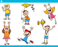 Children characters cartoon set Royalty Free Stock Images