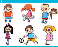 Children characters cartoon set Royalty Free Stock Photography