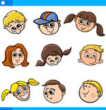 Children characters faces set Stock Image