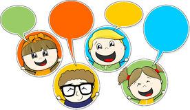 Children chat Stock Photography