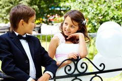 Children chatting Royalty Free Stock Photography