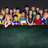Children Cheerful Studying Education knowledge Concept Stock Photos
