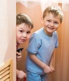 Children cheerfully play Stock Photos
