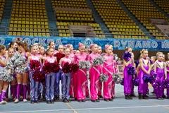 Children cheerleaders teams at Championship Stock Image