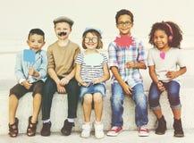 Children Child Aspiration Brave Activity Success Concept Royalty Free Stock Photography