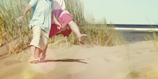 Children Child Elementary Kids Siblings Beach Concept Stock Photography