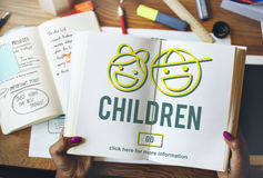 Children Childhood Kids Offspring Website Concept Royalty Free Stock Photo