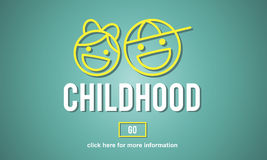 Children Childhood Kids Offspring Website Concept Stock Image