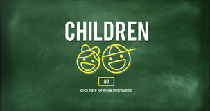 Children Childhood Kids Offspring Website Concept. Children Childhood Kids Offspring Website Royalty Free Stock Images