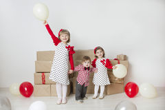 Children on a children's holiday Stock Photography