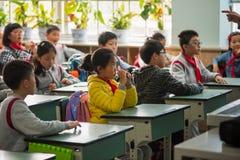 Children in a chinese school. Chengdu, Sichuan Province, China - March 31, 2017: Children in a chinese school Royalty Free Stock Photos