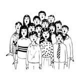 Children in a choir. Illustration of a children choir Royalty Free Stock Photo