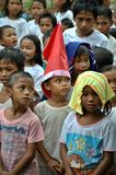 Children on Christmas. Photo of Filipino children taken in a public school wherein majority of the students are decendants of the Subanen Tribe in Zamboanga del Royalty Free Stock Photography