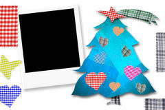 Children Christmas Card with photoframe Royalty Free Stock Photos