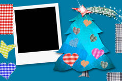 Free Children Christmas Card With Framework Stock Photography - 61335232