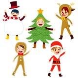 Children Christmas Costume Stock Photo
