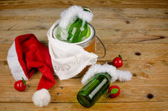 Children Christmas drink Royalty Free Stock Image
