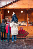 Children at the christmas market Royalty Free Stock Images